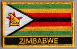 Zimbabwe Embroidered Flag Patch, style 09.